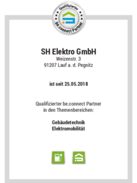 be.connect bei SH Elektro GmbH in Lauf a.d. Pegnitz